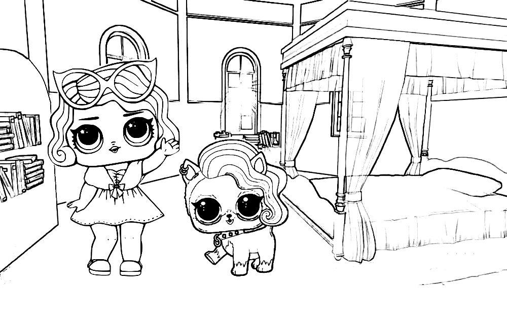 куклы лол раскраски их питомцы и дети